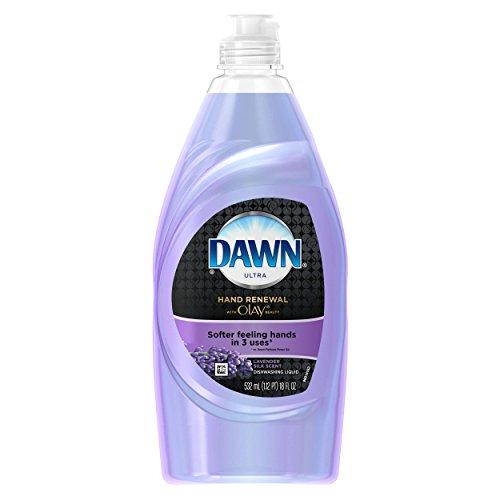 Dawn Ultra Hand Renewal Dish Liquid with Olay, Lavender, 18 fl.oz