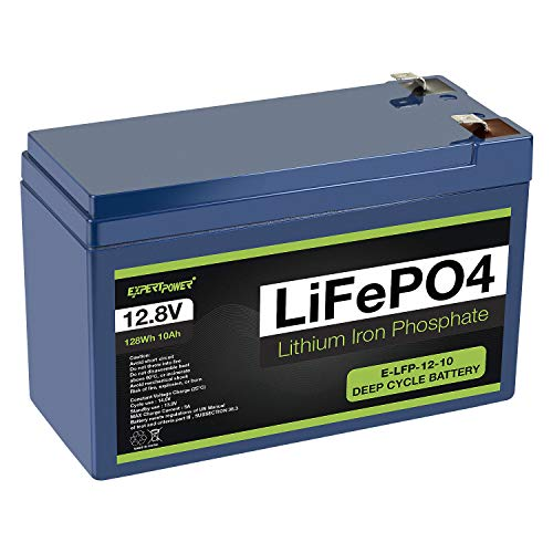 Price comparison product image ExpertPower 12V 10Ah Lithium LiFePO4 Deep Cycle Rechargeable Battery / 2500-7000 Life Cycles & 10-Year lifetime / Built-in BMS