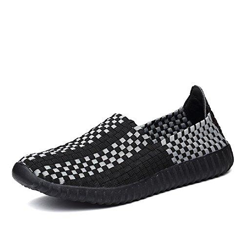 Peggie House Mujeres Zapatillas Low-Top Elasticated estiramiento Zapatos Tamaño: 35-44 Negro