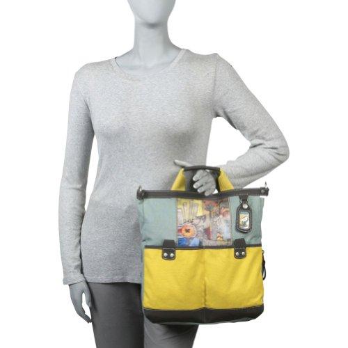 Tamaño grande diseño de Sherpani bolso bandolera de algodón con cuadro elementos de