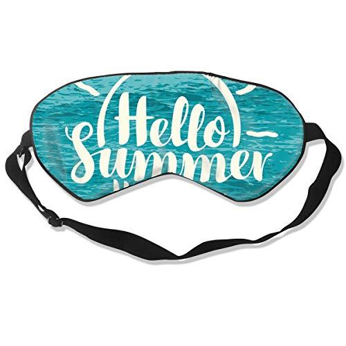 GRFER Hello Summer Holiday at Sea Best Sleep Mask Travel, Nap, Adjustable Belt Eye Mask for Men and Women
