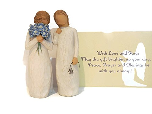 Willow Tree Forget Me Not Figurine Bundle With Willow Tree Remember Statue. An Ideal Sympathy-Condolence Gifts For Loss Of Mother/Father/Loved One
