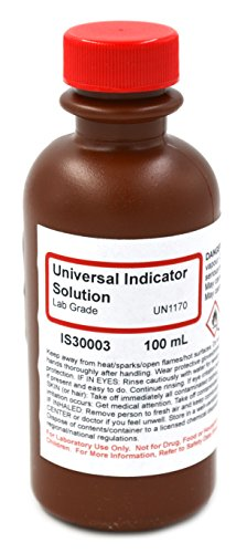 Lab-Grade Universal Indicator Solution, 100mL - The Curated Chemical (Ph Indicator Lab)