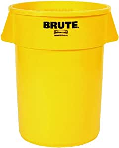 Amazon Com Rubbermaid Commercial Fg264300yel Brute Lldpe