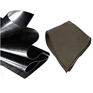Anjon 12 ft. x 10 ft. 20 mil HDPE Pond Liner and Underlayment Combo for Koi Ponds and Commercial Lakes