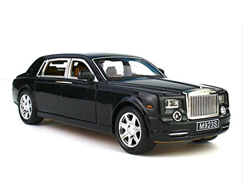 1:24 Rolls-Royce Phantom Diecast Sound & Light & Pull Back Model Toy Car Black New in Box (Rolls Royce Model compare prices)