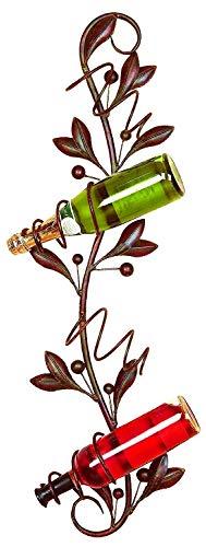 Bellaa 21314 Wall Mounted Wine Rack Metal