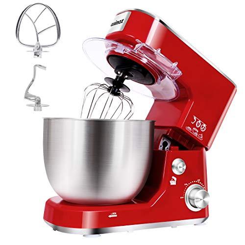 Stand Mixer, CUSIMAX Dough Mixer Tilt-Head Electric Mixer with 5-Quart Stainless Steel Bowl, Dough Hook, Mixing Beater…