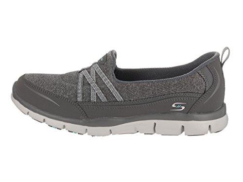 Skechers Womens Gratis - True Heart Casual Shoe Charcoal