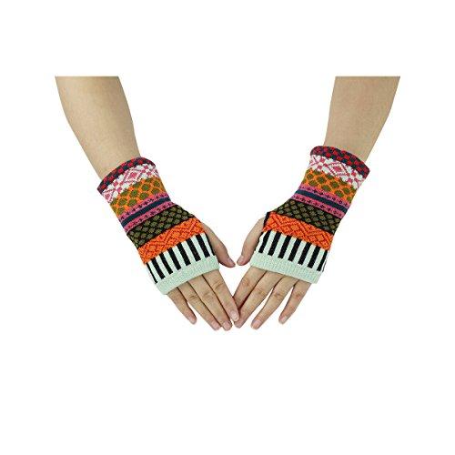 Zmart Fingerless Mittens Knitted Gloves