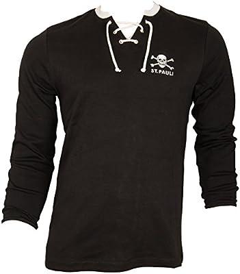 c32a3136 FC St. Pauli de fútbol Manga Larga - Camiseta Retro Sudadera Parte Superior  con Calavera