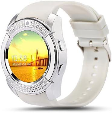 FAVOLOOK V8 - Reloj inteligente con Bluetooth, pulsera deportiva SIM GSM para Android, reloj de salud, podómetro de fitness, 0.02, color gris