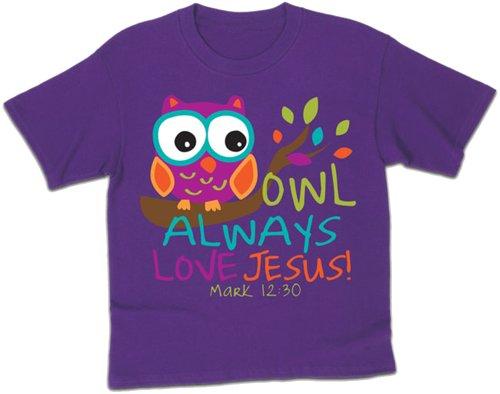 Owl - Always Love Jesus - Small - Kids Christian T-Shirt