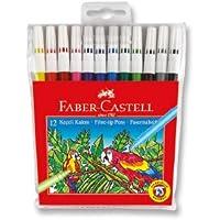 Faber-Castell 5067155130 Keçeli Kalem, 12 Renk