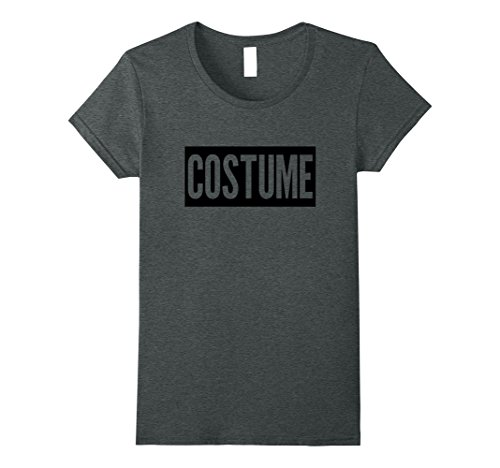 Womens FUNNY HALLOWEEN COSTUME T-SHIRT [PARTY OUTFIT & GIFT IDEA] XL Dark Heather