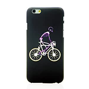 "Inask Luminous Effect Fluorescent Glow in the Dark Hard Case Back Cover Heavy Duty for Iphone 6 ( 4.7"") with Free LCD Film Ride a Bike"