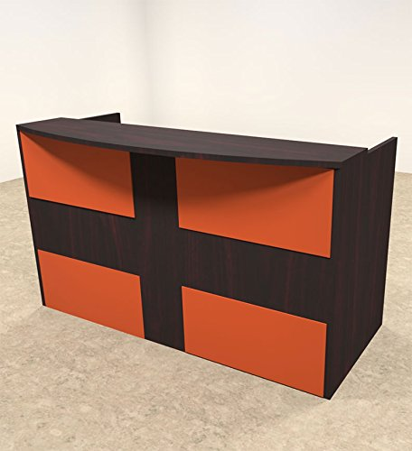 2pc Rectangular Modern Acrylic Panel Office Reception Desk, #OT-SUL-RO27 by UTM