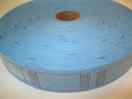 (1 X 2000 Blank Blue Single Roll Consecutively Numbered Raffle)