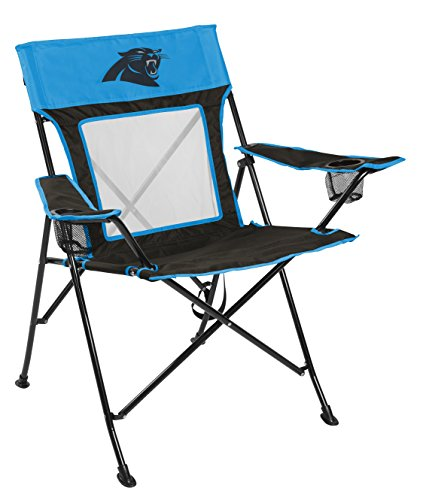 Rawlings NFL Game Changer Large Folding Tailgating and Camping Chair, with Carrying Case, Carolina Panthers