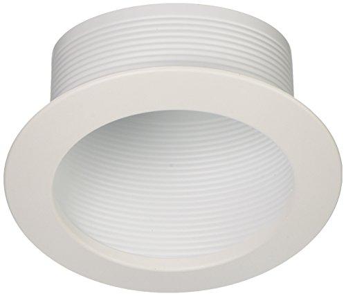 NICOR Lighting 6-Inch Baffle Sloped Trim for Sloped Housings, White (Sloped Baffle Trim)