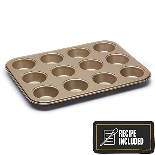 (Paul Hollywood By Kitchencraft 12-hole Non-stick Baking Tin, 31.5 x 24cm)