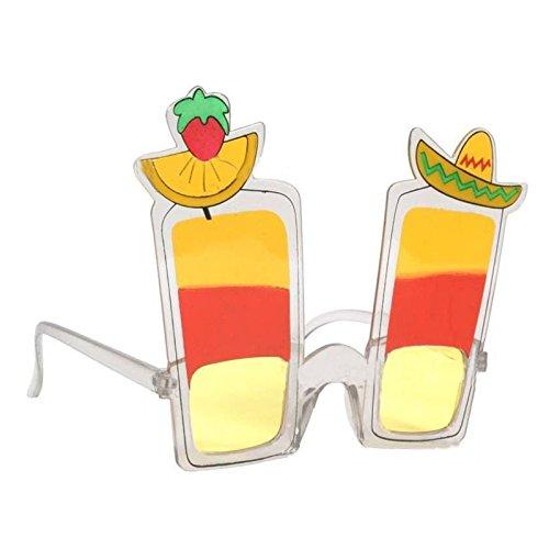 OULII Hawaiian Juice Cup Eyeglasses Lemon Sunglasses for Luau Summer Beach Party - Sunglass Suppliers