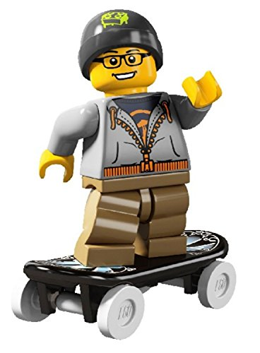 LEGO Minifigures Series 4 Street Skater COLLECTIBLE Figure skateboarding stunt skateboard rolling up and down (Lego Skateboard Park)