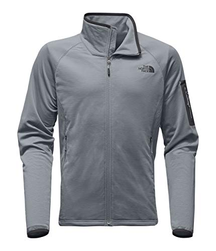 Bonded Full Zip Fleece - The North Face Men's Borod Full Zip, Mid Grey/Asphalt Grey, Size XL