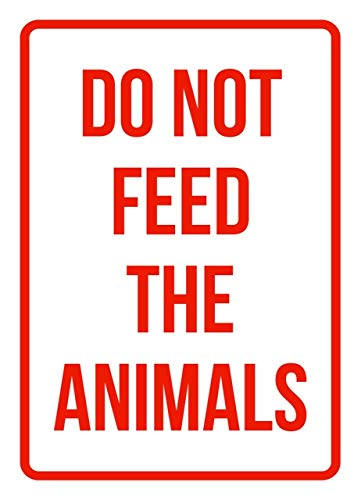 iCandy Products Inc Do Not Feed The Animals No Parking Business Safety Traffic Signs Red - 7.5x10.5 - Plastic