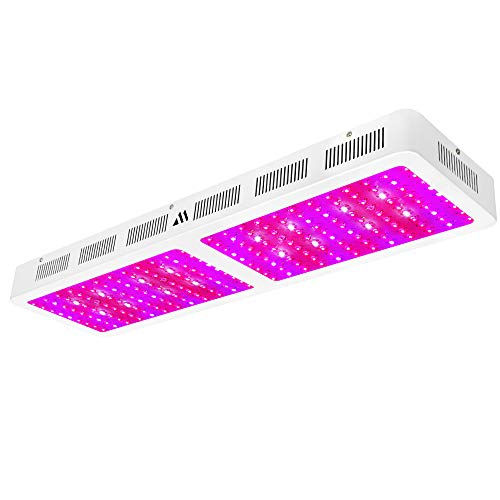 Dimgogo 2400w Double Chips LED Grow Light Full Spectrum Grow Lamp for Greenhouse and Hydroponic Indoor Plants Veg and Flower (10w Leds)