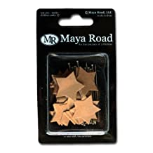 Maya Road TK2202 Kraft Vintage Star and Arrow Kraft Pins