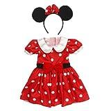 Disney Baby-Girls Polka Dot Dress & Headband Minnie Mouse Costume