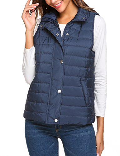 Quilted Down Vest - 1