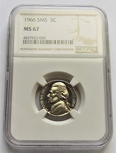1966 Jefferson SMS Nickel MS67 NGC (Mint Nickel Jefferson Ngc)