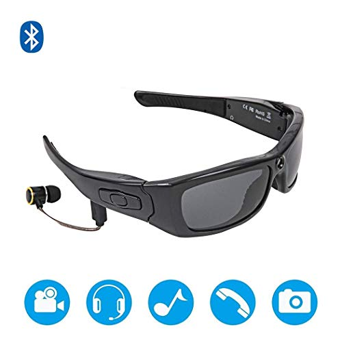 Yuany New 1080P USB High-Definition Headset MP3 Bluetooth Music Video Sunglasses Can Be Connected to Call Fashion Sports Smart Glasses