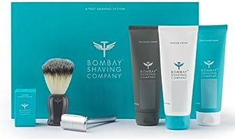 Complete Shaving System (Razor, Blades, Brush, Scrub, Cream, Balm) by Bombay Shaving Company