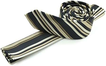 Moda Di Raza - Men's Skinny Necktie 2 Slim Tie Casual Business Formal