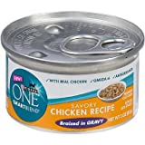 Purina ONE Smart Blend Savory Chicken Braised in Gravy Canned Cat Food, My Pet Supplies