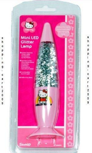 Marvelous HELLO KITTY MINI LED GLITTER LAMP LAVA LAMP LIGHT MOTION LAMP FOR KIDS NEW