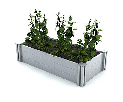 (Vita Gardens VT17124 2x4 Modular Garden Bed, White)