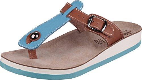dama punta tostado Negro dedo fantasía para KRIOS de Calzado Sandalias Azul Sandalias con de XxqFBB