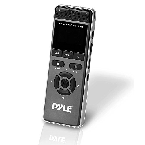 Pyle PVRCM500 Compact & Portable Digital Voice/Music Recorder, Built-In Rechargeable Battery, 8GB Memory by Pyle