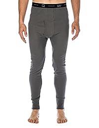 Noble Mount Men's Classic Waffle Knit Thermal Long John Pants