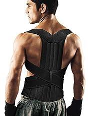 Ausale Back Corrector Keep Spine Safe for Women and Men Provide Lumbar Protection Full Adjustable Elastic Straps and Comfortable Back Brace for Spinal,Neck,Shoulder & Upper Back Pain Relief(L)