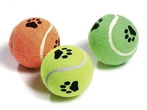 Karlie Flamingo 45650 Tennisball mit Squeaker Farblich Sortiert, 3-er Set