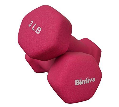 Bintiva Professional Grade, Non Slip Grip, Neoprene Coated Dumbbells - 1 Pair