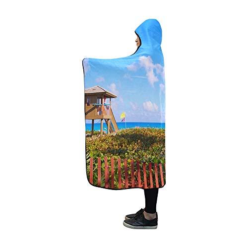 Delray Island - YUMOING Hooded Blanket Del Ray Delray Beach Florida USA Blanket 60x50 Inch Comfotable Hooded Throw Wrap
