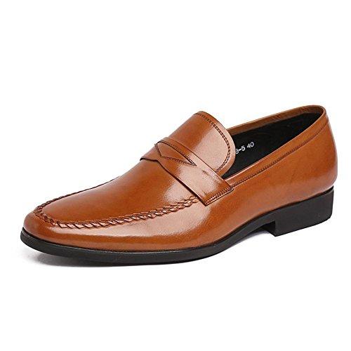 Hombres Oxfords Zapatos Cuero Casual Comodidad Ponerse Mocasines Conducción Formal Negocio para los hombres Plano Negro marrón Respirable Hecho a mano Trabajo Brown