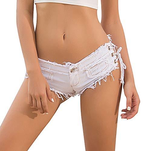 TIFENNY Sexy Short Jeans for Women Denim Jeans Low Waist Super Mini Shorts Pants 2019 New Mini Jeans