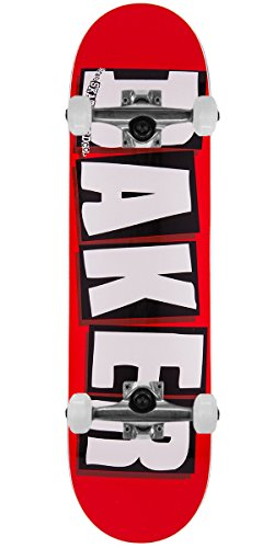 Baker Skateboard Complete Brand Logo White 8.125